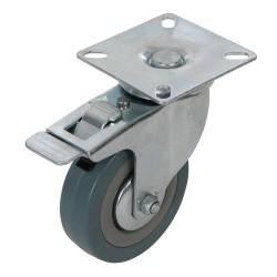 Kólko skretne gumowe z hamulcem75 mm 50 kg-487739-Fixman