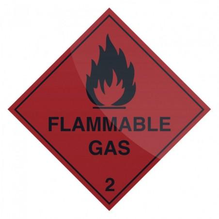 Znak: Flammable GasSamoprzylepny 100 x 100 mm-880753-Fixman