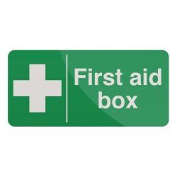 Znak:  First Aid BoxSamoprzylepny