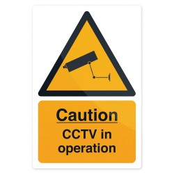 Znak CCTV In OperationSztywny