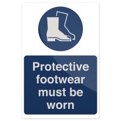 Znak: Protective Footwear Must Be WornSztywny