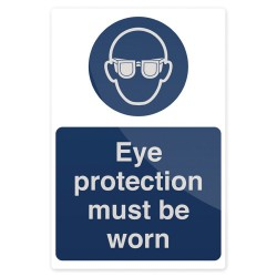 Znak: Eye Protection Must Be WornSztywny 200 x 300 mm-893068-Fixman
