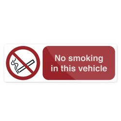 Znak: No Smoking In This VehicleSamoprzylepny