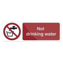 Znak: Not Drinking WaterSamoprzylepny 300 x 100 mm-600141-Fixman