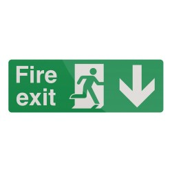 Znak:  Fire Exit Left ArrowSztywny