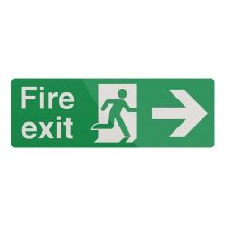 Znak:  Fire Exit Left ArrowSamoprzylepny