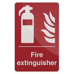 Znak:  Fire ExtinguisherSamoprzylepny