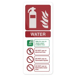 Znak: Water EN3 ExtinguisherSztywny