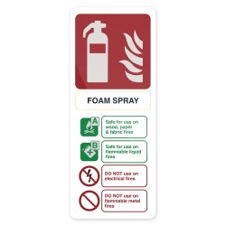 Znak: Foam Spray ExtinguisherSztywny