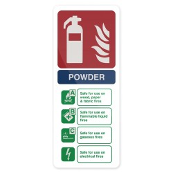 Tablica informacyjna:  Dry Powder Fire Extinguisher202 x 82 mm-350421-Fixman