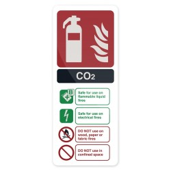 Znak: CO2 EN3 Fire Extinguisher202 x 82 mm-827074-Fixman