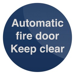 Znak: Automatic Fire DoorSamoprzylepny