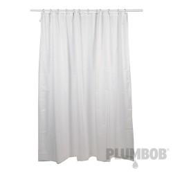 Biala poliestrowa zaslona prysznicowa1800 x 1800 mm-611019-Plumbob
