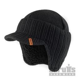 Ocieplana czapka z daszkiemRozmiar uniwersalny-T50986-Scruffs