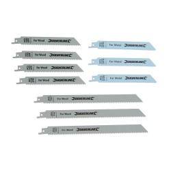 Brzeszczoty do ciecia drewna i metalu 10 szt.HCS - 240 i 150 mm-783087-Silverlin