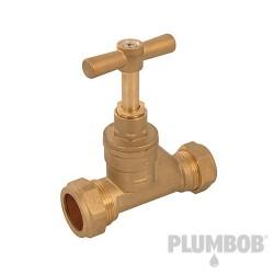 Kurek zamykajacy22 mm miedz x 25 mm MDPE-345057-Plumbob