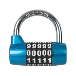 Ocynkowana klódka 5-cyfrowa kombinacja65 mm-425105-Silverline