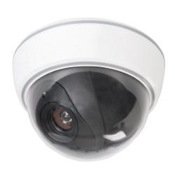 Atrapa kopulkowej kamery monitorujacej z lampka LED3 x AA-828951-Silverline