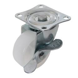 Kólko skretne polipropylenowe z hamulcem50 mm 50 kg-112547-Fixman