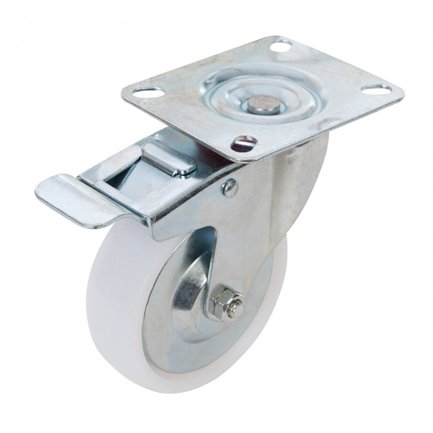Kólko skretne polipropylenowe z hamulcem125 mm 160 kg-144459-Fixman