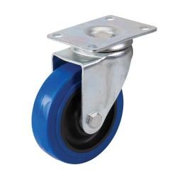 Kólko skretne gumoweNiebieskie 100 mm