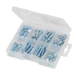 Zestaw srub z lbem walcowym oraz nakretek75 szt.-520988-Fixman
