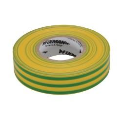 Tasma izolacyjna19 mm x 33 m zielona/zólta-192227-Fixman