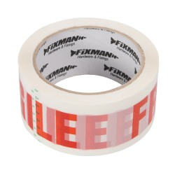 Tasma pakowa z napisem 'FRAGILE' (Produkt kruchy)48 mm x 66 m-191480-Fixman
