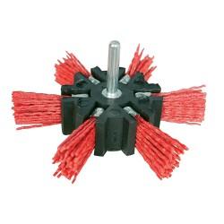 Szczotka miotelkowa nylonowa na trzpieniuSzorstka 100 mm-633557-Silverline