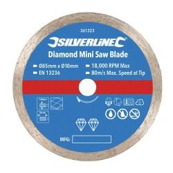 Mini diamentowa tarcza tnacaSrednica 85 mm - Otwór 10 mm-361323-Silverline