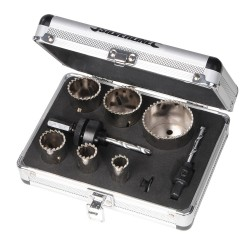 Komplet diamentowych otwornic 11 szt.Srednica: 19 - 57 mm-868779-Silverline