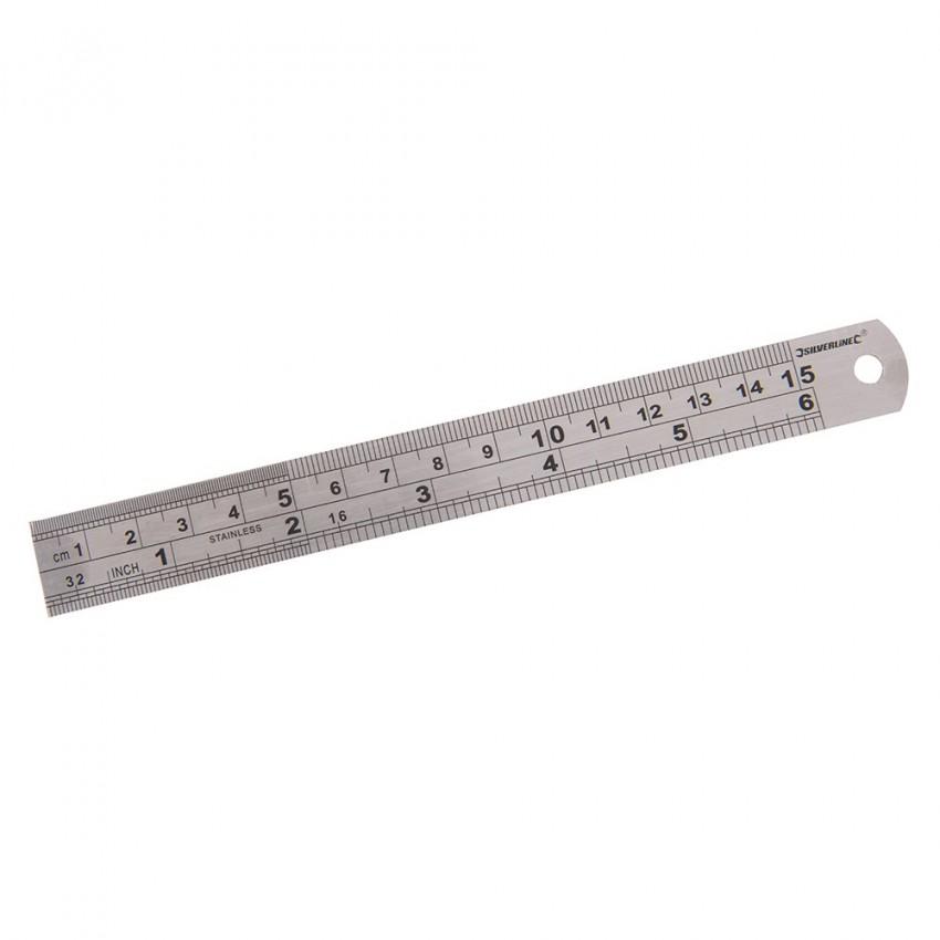 Linial stalowy150 mm-MT65-Silverline