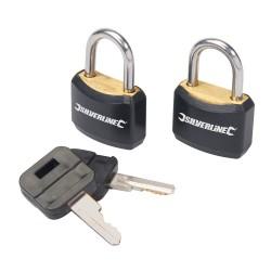 Zestaw powleczonych klódek z kluczami